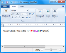 WordPad works better for formatting text.